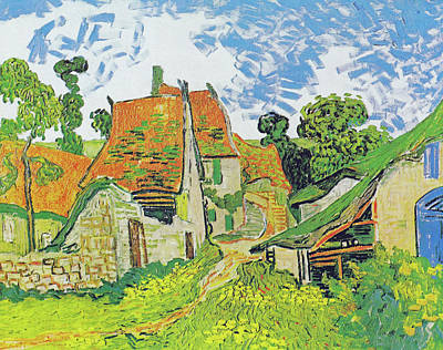 Painting - Village Street In Auvers by Vincent van Gogh