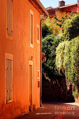 Photograph - Village Street In Provence by Olivier Le Queinec