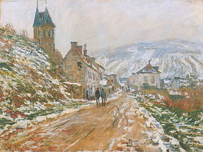 Streetscape Painting - Village Street, Vetheuil by Claude Monet