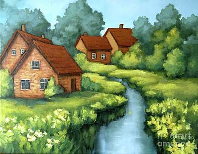 Painting - Village Summer by Inese Poga