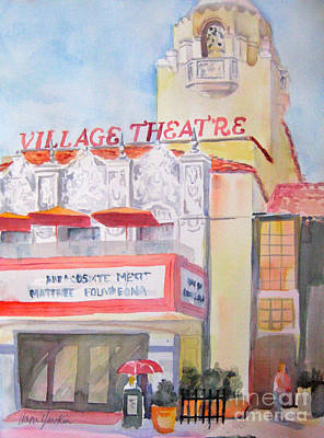 Painting - Village Theatre by Liana Yarckin