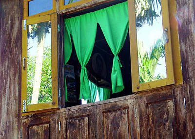 Photograph - Village Window 1, Myanmar by Kurt Van Wagner