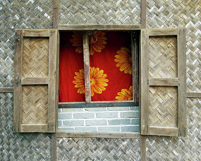 Photograph - Village Window 2, Myanmar by Kurt Van Wagner