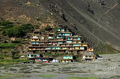 Photograph - Village With Colorful Houses On Mountainside Kaghan Valley Pakistan by Imran Ahmed