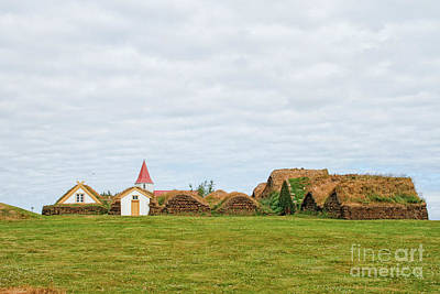 Photograph - Village With Traditional Turfhouses And Church by Patricia Hofmeester
