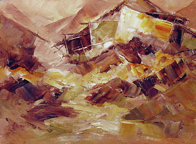 Sachin Painting - Villagescape by Sachin Upadhye