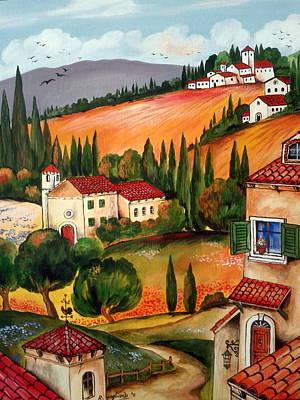 Villaggio Toscano Art Print by Roberto Gagliardi