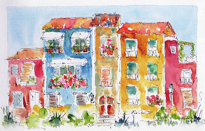 Painting - Villajoyosa Spain by Pat Katz