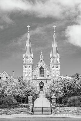 Diploma Photograph - Villanova University St. Thomas Chapel by University Icons
