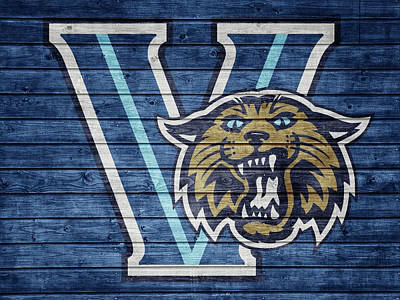 Mixed Media - Villanova Wildcats Barn Door by Dan Sproul