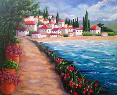 Villas By The Sea Art Print