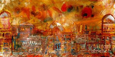Neighbouring Painting - Ville Des Legendes by Contemporary Luxury Fine Art