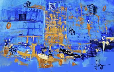 Digital Art - Ville Lafranche by Jim Vance