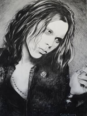 Drawing - Ville Valo by Carla Carson