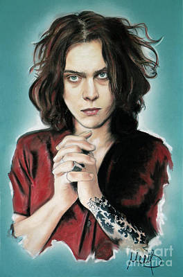Ville Mixed Media - Ville Valo by Melanie D