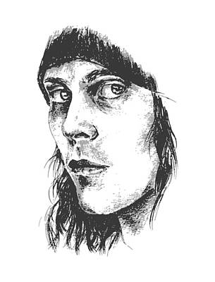 Drawing - Ville Valo Portrait by Alexandra-Emily Kokova