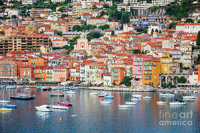 Yacht Photograph - Villefranche-sur-mer On French Riviera by Elena Elisseeva