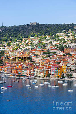 Transportation Royalty-Free and Rights-Managed Images - Villefranche-sur-Mer view on French Riviera by Elena Elisseeva