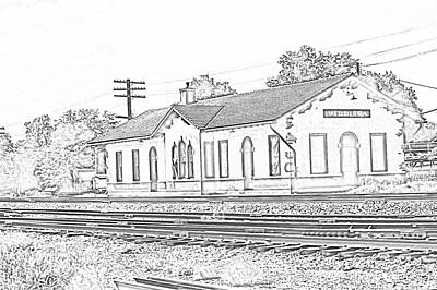Photograph - Villisca Ia Train Depot by Edward Peterson