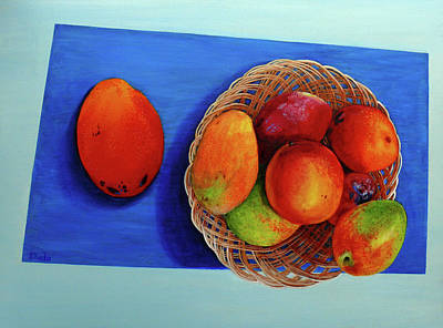 Painting - Vilma's Magical Mango's by Susan Duda