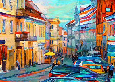 Digital Art - Vilnius At Paint by Yury Malkov