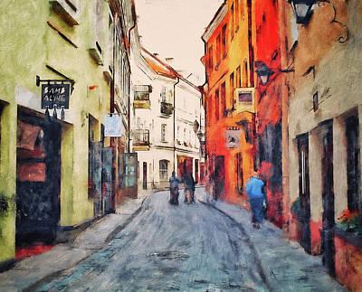 Old Town Digital Art - Vilnius In Spring by Yury Malkov