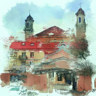 Digital Art - Vilnius Monatery by Yury Malkov