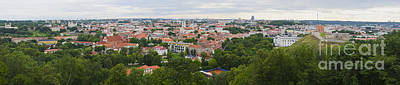 Vilnius Panorama From The Hill Of Three Crosses Art Print by RicardMN Photography