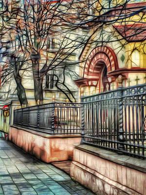 Digital Art - Vilnius Town Street 003 by Yury Malkov