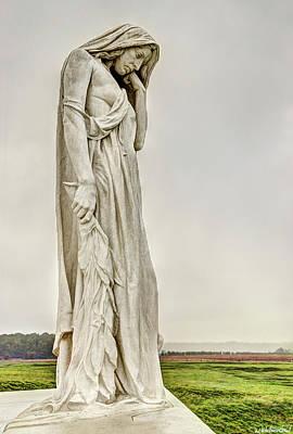Photograph - Vimy Memorial - Canada Bereft by Weston Westmoreland