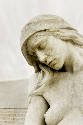 Photograph - Vimy Memorial - Mourning Woman by Weston Westmoreland