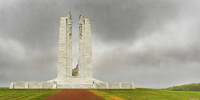Photograph - Vimy Memorial - Rear - Vintage Version by Weston Westmoreland