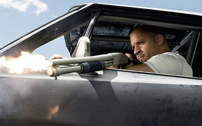 Vin Diesel Dom Fast And Furious Art Print