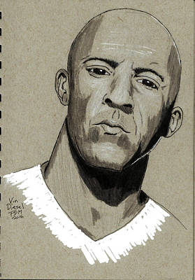 Painting - Vin Diesel by Frank Middleton