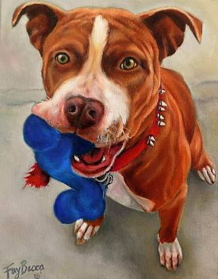 Painting - Pit Bull by FayBecca Designs