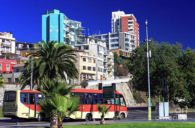 Photograph - Vina Del Mar Colors Chile by John Rizzuto