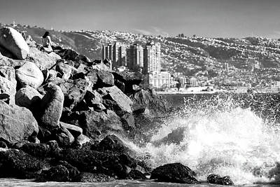 Photograph - Vina Del Mar Waves At Acapulco Beach by John Rizzuto
