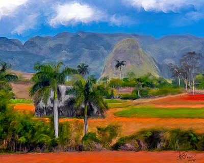 Art Print featuring the photograph Vinales Valley. Cuba by Juan Carlos Ferro Duque