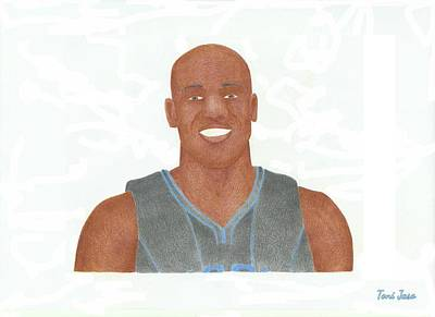 Drawing - Vince Carter by Toni Jaso