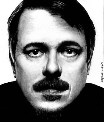 Drawing - Vince Gilligan by Rick Fortson