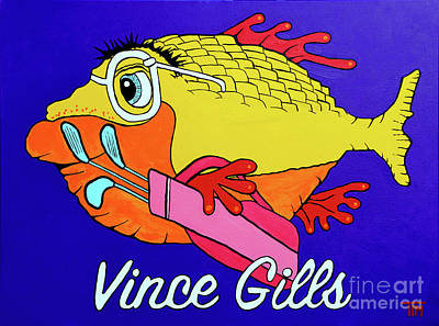 Painting - Vince Gills by Tim Ross
