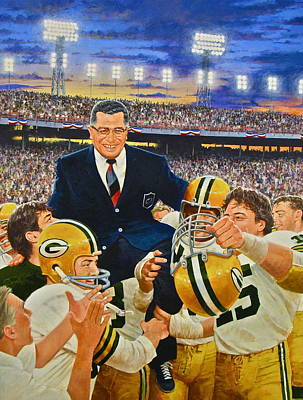 Painting - Vince Lombardi by Cliff Spohn