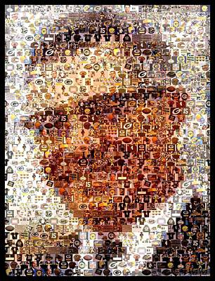 Vince Lombardi Green Bay Packers Mosaic Art Print