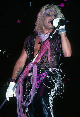 Motley Crue Photograph - Vince Neil Of Motley Crue by Rich Fuscia