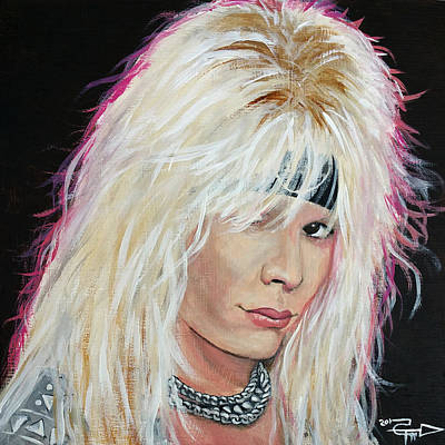 Neil Painting - Vince Neil by Tom Carlton