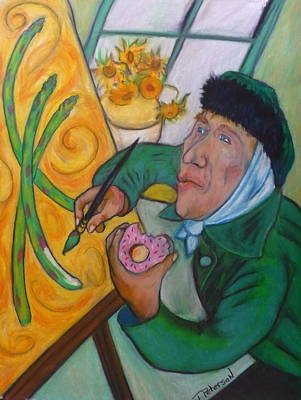 Painting - Vincent And The Asparagus by Todd  Peterson