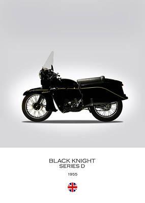 Vincent Black Knight 1955 Art Print by Mark Rogan