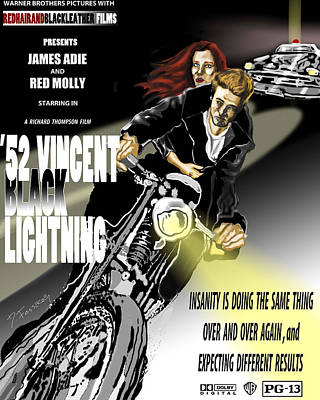 Vincent Black Lightening Art Print