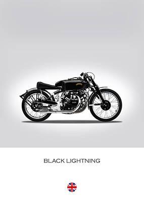 Bsa Photograph - Vincent Black Lightning by Mark Rogan