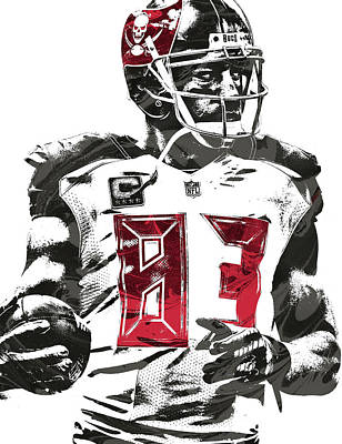 Mixed Media - Vincent Jackson Tampa Bay Buccaneers Pixel Art by Joe Hamilton